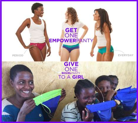 Empowering Underwear Campaigns - This Company Gives High-Performance Underwear to Girls in Need
