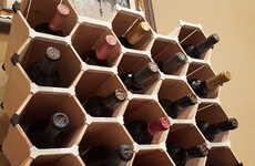 Hexagon-Shaped Wine Racks