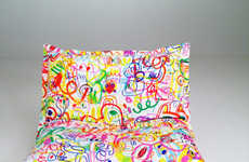 Graffiti-Inspired Bedsheets - These Colorful Linens are Covered with Artistic Doodles