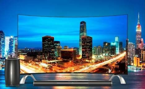 Dual-Content TVs - The LeTV 'Super 4 Max65 Curved' Split Screen TV is the World's First
