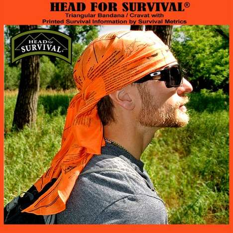 Life-Saving Bandanas - The 'Head for Survival' Bandana is Printed with Survival Tips