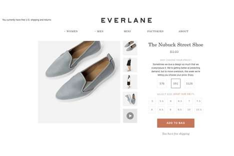 Price-Picking Promotions - The Everlane After Christmas Sale Allows You to Choose Your Price