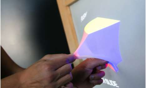 Malleable Display Surfaces - The GHOSTS 3D Interactive Display Can Be Manipulated With Hands