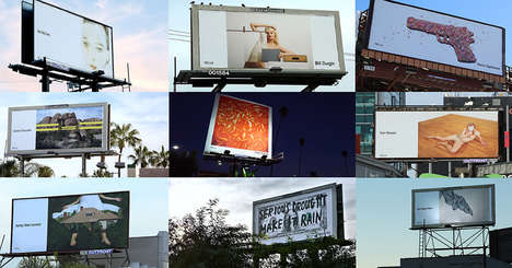 Artwork Advertising - Billboard Advertisements in Los Angeles Display Artwork Instead of Ads