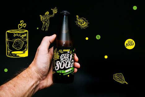 Microbrewed Soda Branding - Gothenburg Soda is a Swedish Drink Boasting Youthful Packaging