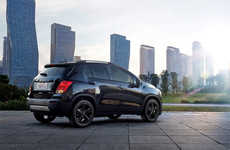 Special Edition Black Vehicles - The 2016 Chevrolet Trax Midnight Edition Features Chic Finishes