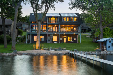 Family-Friendly Lakeside Retreats - This Minnesota Lake House is Characterized by Playful Features