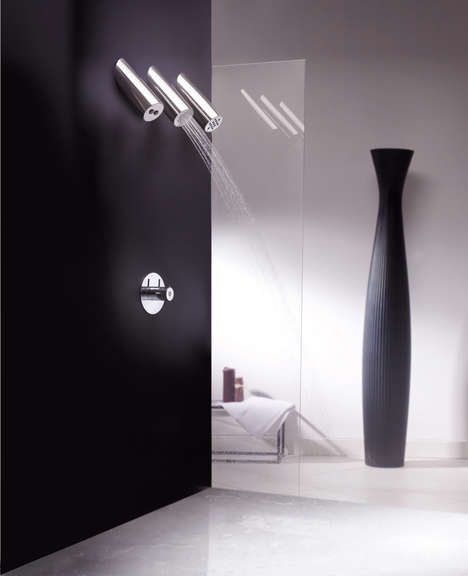 Multi-Stream Showers - 'Do Re Mi' Shower Head by Paolo Bertarelli Offers a Chic Shower Experience