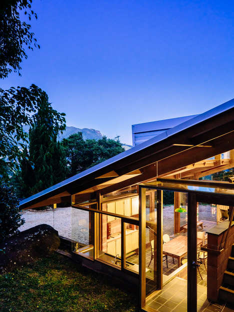 Slopping Mountainside Homes - This Titled Brazilian Home is Built on Mountainous Terrain