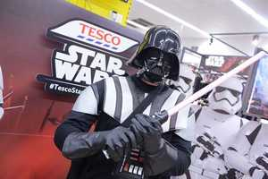 A Series of In-Store Star Wars Activities Delight Tesco's Customers