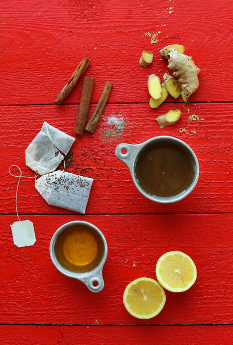 Rooibos Hot Toddies - This Cinnamon Version of a Warm Rum Beverage is Made with Tea and Apple Cider