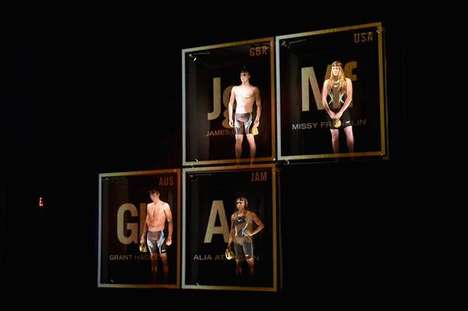 Projected Swimwear Fashion Shows - This Team Speedo Installation Debuted the New Olympic Line