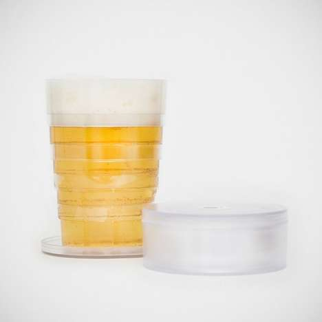 Collapsible Beer Cups - These Brew Glasses Conveniently Flat Pack for Easy Storage