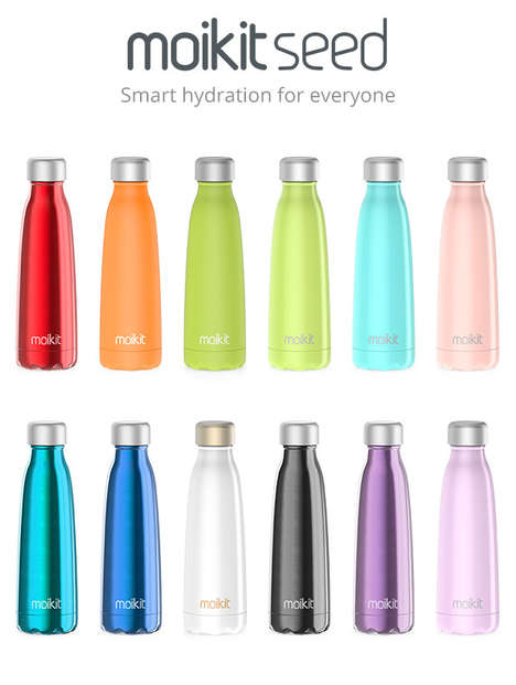 Tech-Embedded Water Bottles - The Seed Smart Bottle Contains Water Consumption Tracker Technology