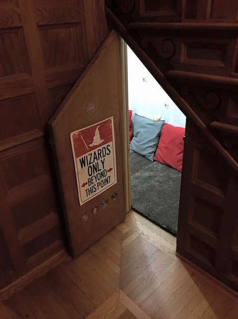 Homemade Wizard Abodes - This Replica of Harry Potter's Bedroom Under the Stairs is Very Realistic