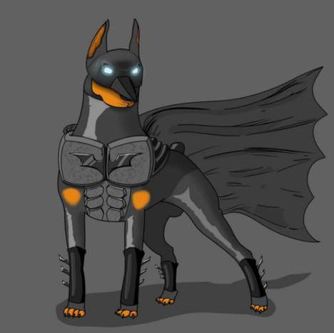 Critter Superhero Cartoons - This Graphic Illustrations Portray Famous Heroes as Animals