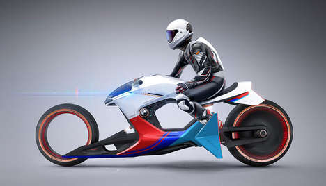 Hollow Chassis Motorcycles - The BMW 'i Motorrad Beta|R' Motorcycle Concept Has Futuristic Touches