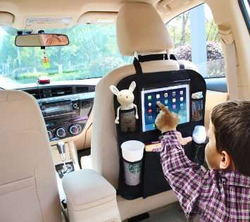 Vehicle Tablet Seat Holders - The Back of Seat Car Organizer Offers a Place to House Tech Devices