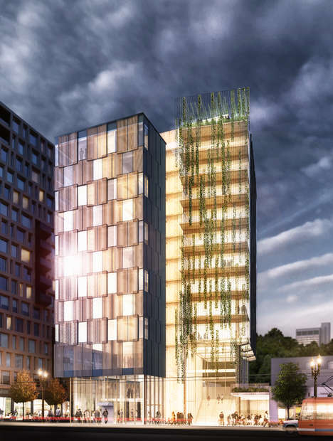 Tall Timber Towers - The Framework Building Concepts Feature a Wooden Structural Skeleton