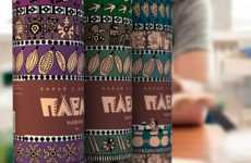 Cocoa Tribal Branding Emulates the Art of South American Aboriginals