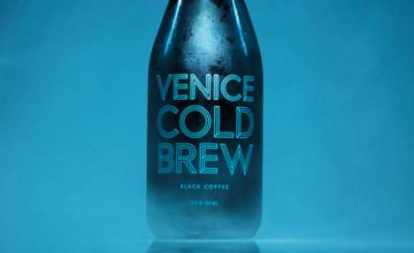 Type-Based Branding - Venice Cold Brew Packaging Relies on a Framework of Letters