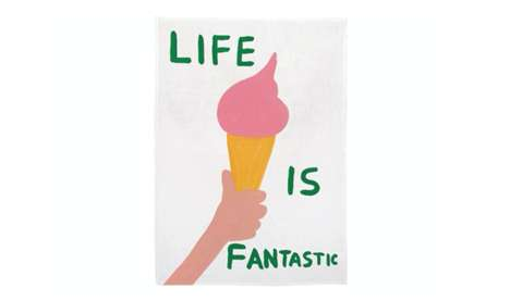 Life-Loving Linens - A 'Life is Fantastic' Tea Towel is an Everyday Reminder to Be Grateful