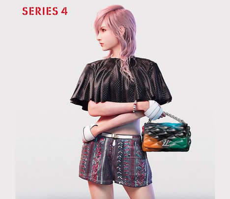 Video Game Handbag Models - Final Fantasy's Lightening Is In This SS2016 Louis Vuitton Ad Campaign