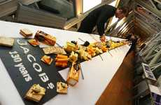 Giant Cheeseboard Tastings - Jacob's Held a London Event with a 40-meter-long Cheeseboard