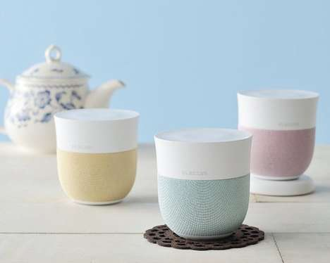 Tea Cup Speakers - These Cute Wireless Elecom Music Tumblers Look Have a Cup and Saucer Design