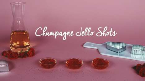 Celebratory Champagne Shots - These Champagne Jello Shots are Ideal For Ringing in the New Year