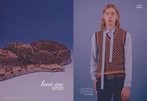 Animalistic Menswear Editorials - Esquire Espana's 'Love Me' Story Draws Inspiration from Wildlife