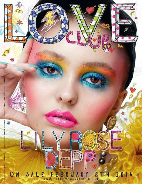 Celebrity Offspring Covers - The Lily Rose Depp LOVE Cover Boasts Psychedelic Visuals
