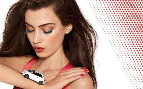 Automobile Makeup Collections - Fiat 500 and Collistar Have Created an Italy-Honoring Cosmetic Line