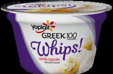 Healthy Cake Yogurts - The New Yoplait Greek Whips Vanilla Cupcake Yogurt is Only 100 Calories