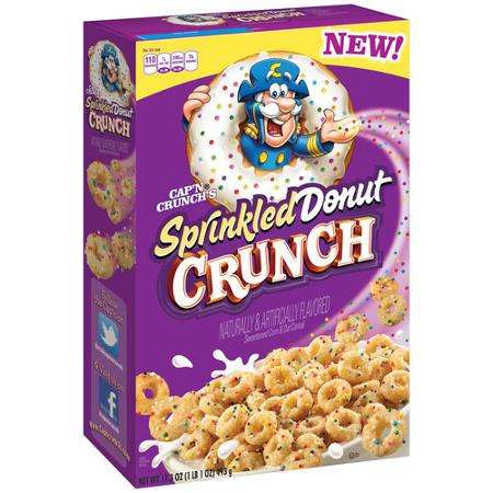 Donut-Flavored Cereals - Cap'n Crunch 'Sprinkled Donut Crunch' Cereal is Breakfast Dessert-Inspired