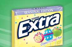 Cake Pop Chewing Gum - Wrigley's Extra Confetti Cake Pop Gum Offers a Sugar-Free Way to Indulge
