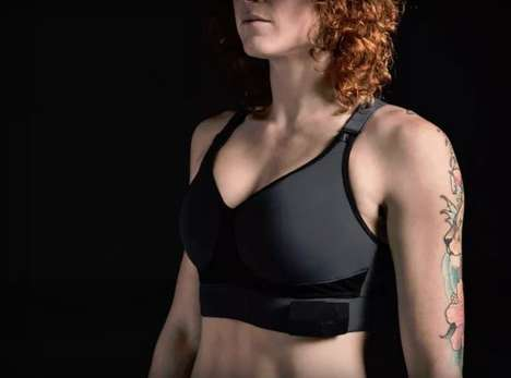 Futuristic Biometric Bras - The Biometric Bra from OmSignal Will Debut at CES 2016 in Vegas