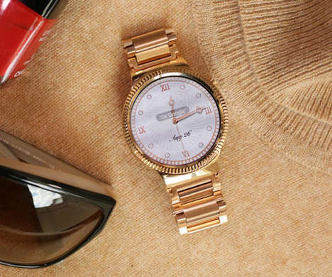 Rose Gold Smartwatches - This New Huawei Watch Features 22 Carats of Rose Gold