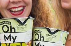 Artisanal Dessert Yogurts - Stonyfield Organic's Oh My Yog! Range Boasts Gourmet Flavor Pairings