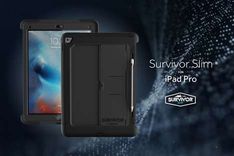 Impact-Resistant Tablet Sheaths - Griffin Technology's Survivor Slim Shells Launched at CES 2016