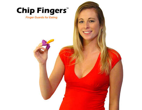 Potato Chip Holders - Chip Fingers Allow Users to Eat Chips Without Getting Fingertips Greasy