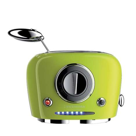 Retro Futuristic Toasters - The Tix Toaster Appliances Offer Nine Different Bread Cooking Settings