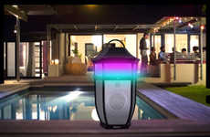 Illuminated Patio Speakers