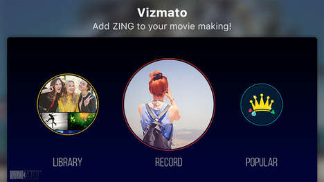 Mobile Video-Editing Apps - The 'Vizmato' App Was Unveiled at CES 2016