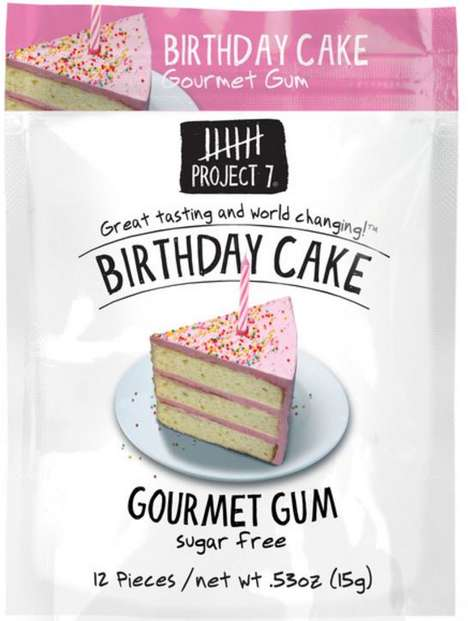 Birthday Cake Chewing Gum - Project 7's Gourmet Gum is Inspired by a Classic Childhood Treat
