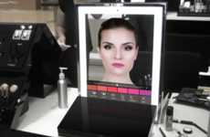 Connected Makeup Mirrors - ModiFace Unveils Its Latest Augmented Reality Makeup Mirror at Ces 2016