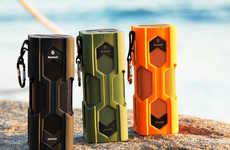 Rugged Conference Equipment - The Sound Monkey Bluetooth Audio Speaker Takes Calls and Plays Music