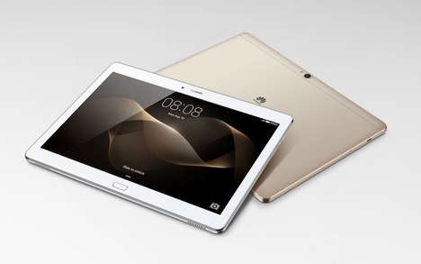 Custom Processor Tablets - The Huawei MediaPad M2 is Unveiled at CES 2016 with a Custom Chipset