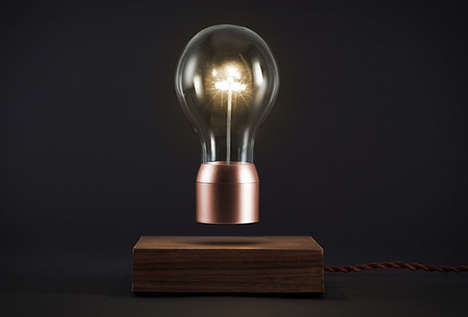 Surrealist Levitating Lightbulbs - The Flyte LED Bulb Design Creatively Floats in Midair