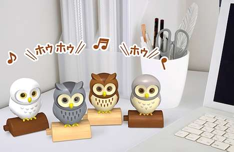 Responsive Owl Robots - The Happiness Owl Toy Android Enhances One's Mood with Continual Dialogue